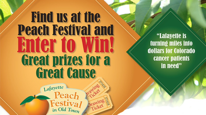 Win Prizes & Support Willa's Wheels at Lafayette Peach Festival