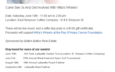 May Newsletter: 🎶 Join us for live music to support Willa's Wheels + more news/tips.