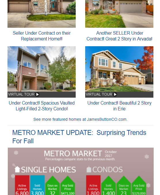 November Newsletter: ? Sellers Get Full Price and Move Up For The Holidays!